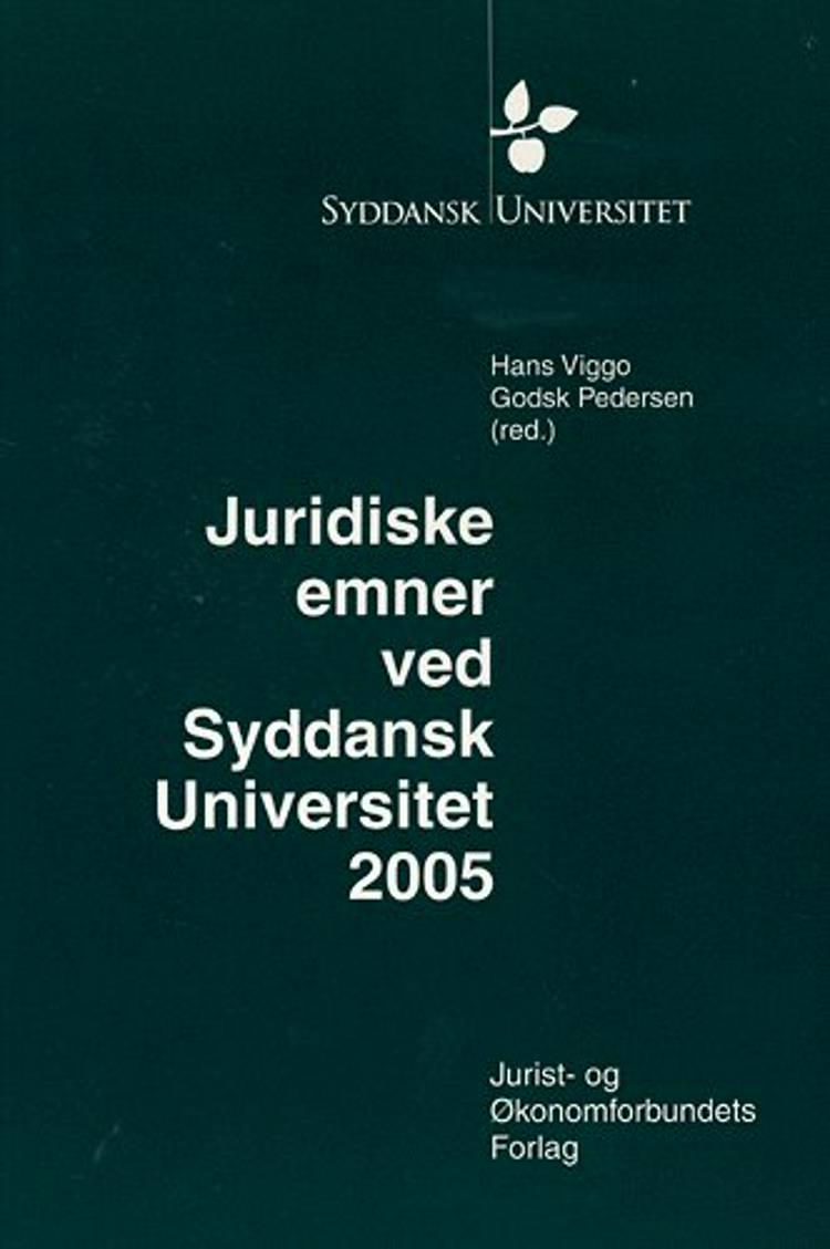 Juridiske emner ved Syddansk Universitet af Hans Viggo Godsk Pedersen