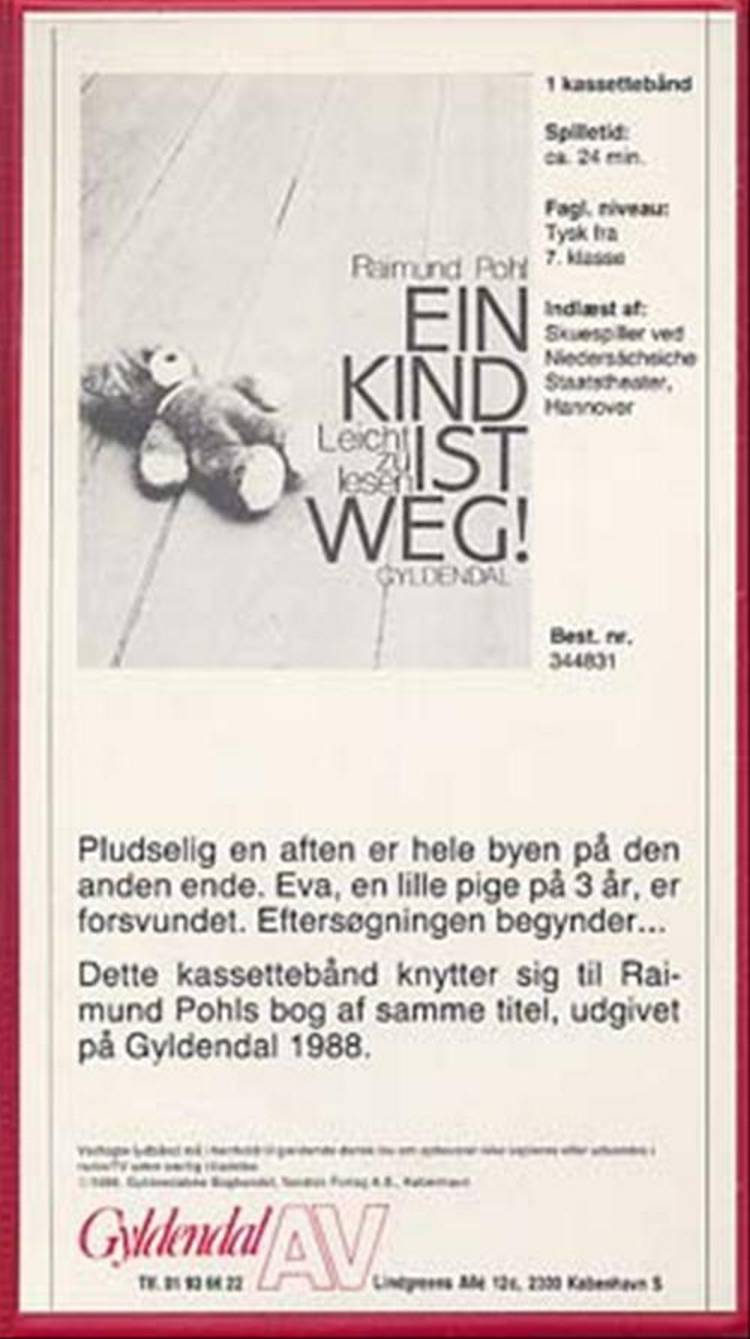 Spr. bånd. ein kind ist weg gb af Raimund Pohl