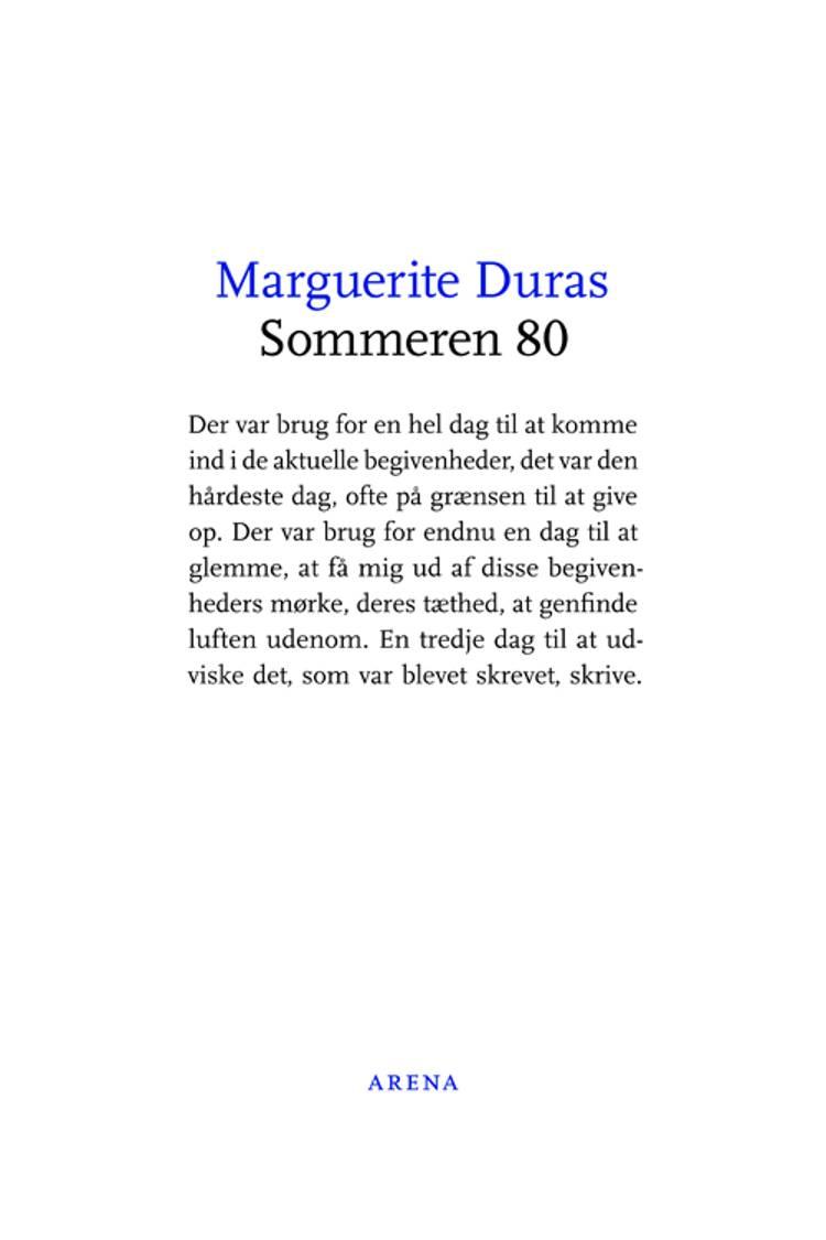 Sommeren 80 af Marguerite Duras