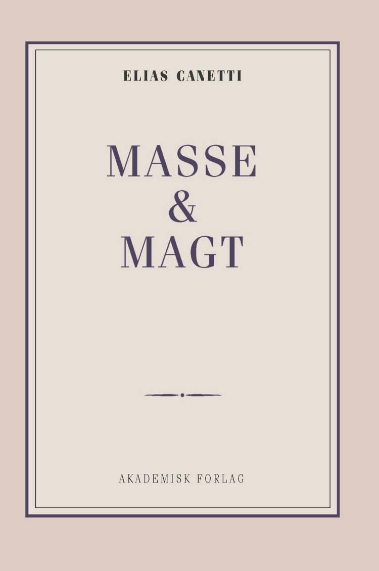 Masse og magt af Elias Canetti