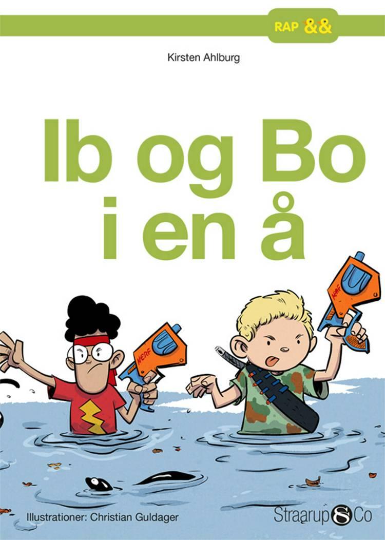 Ib og Bo i en å af Kirsten Ahlburg