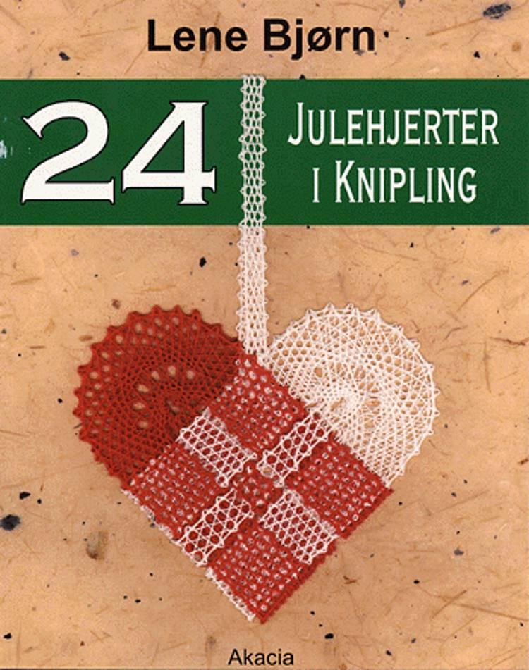 24 julehjerter i knipling af Lene Bjørn