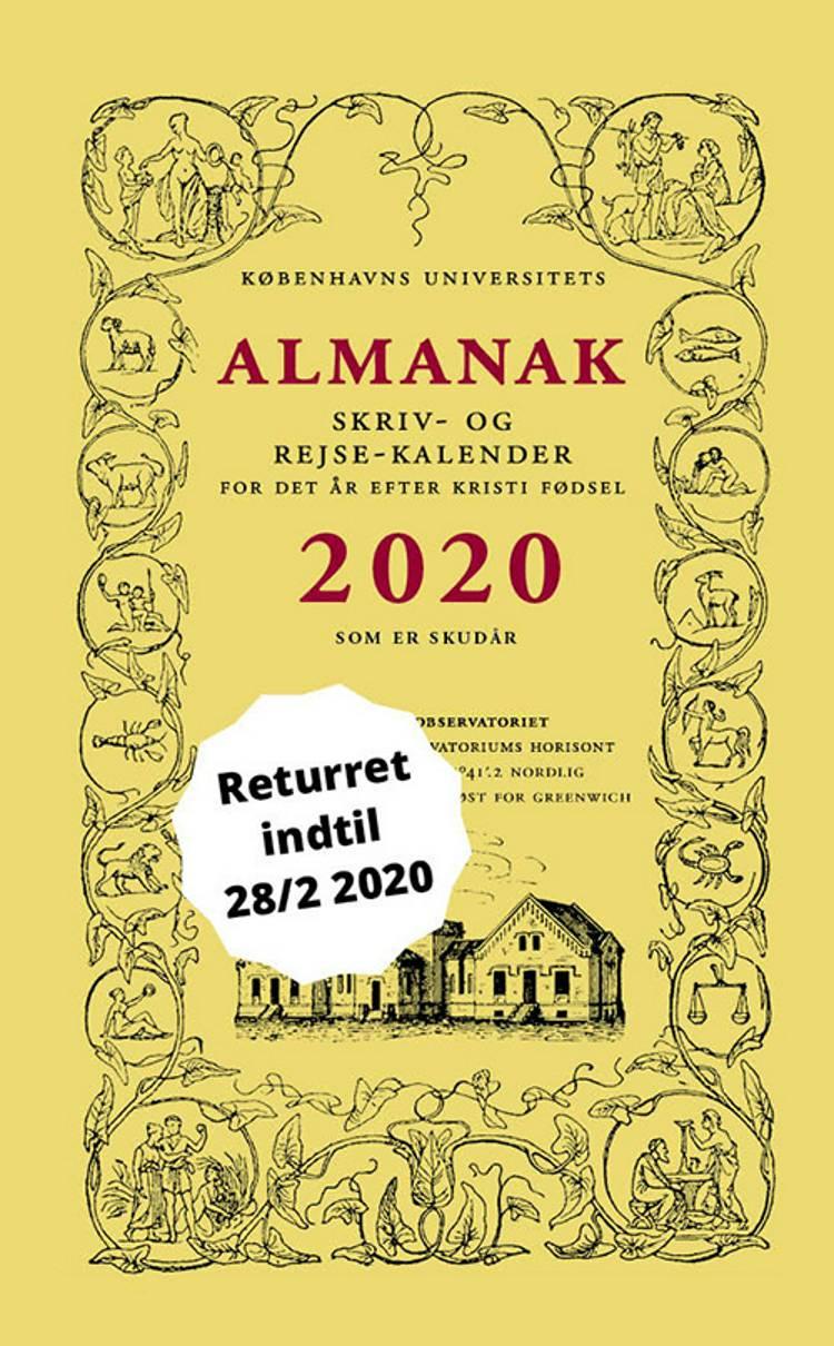 Universitetets Almanak Skriv- og Rejsekalender 2020 af Københavns Universitet