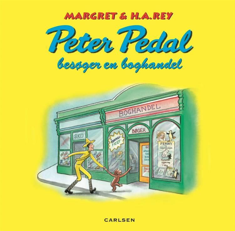 Peter Pedal besøger en boghandel af H.A. Rey og Margret Rey
