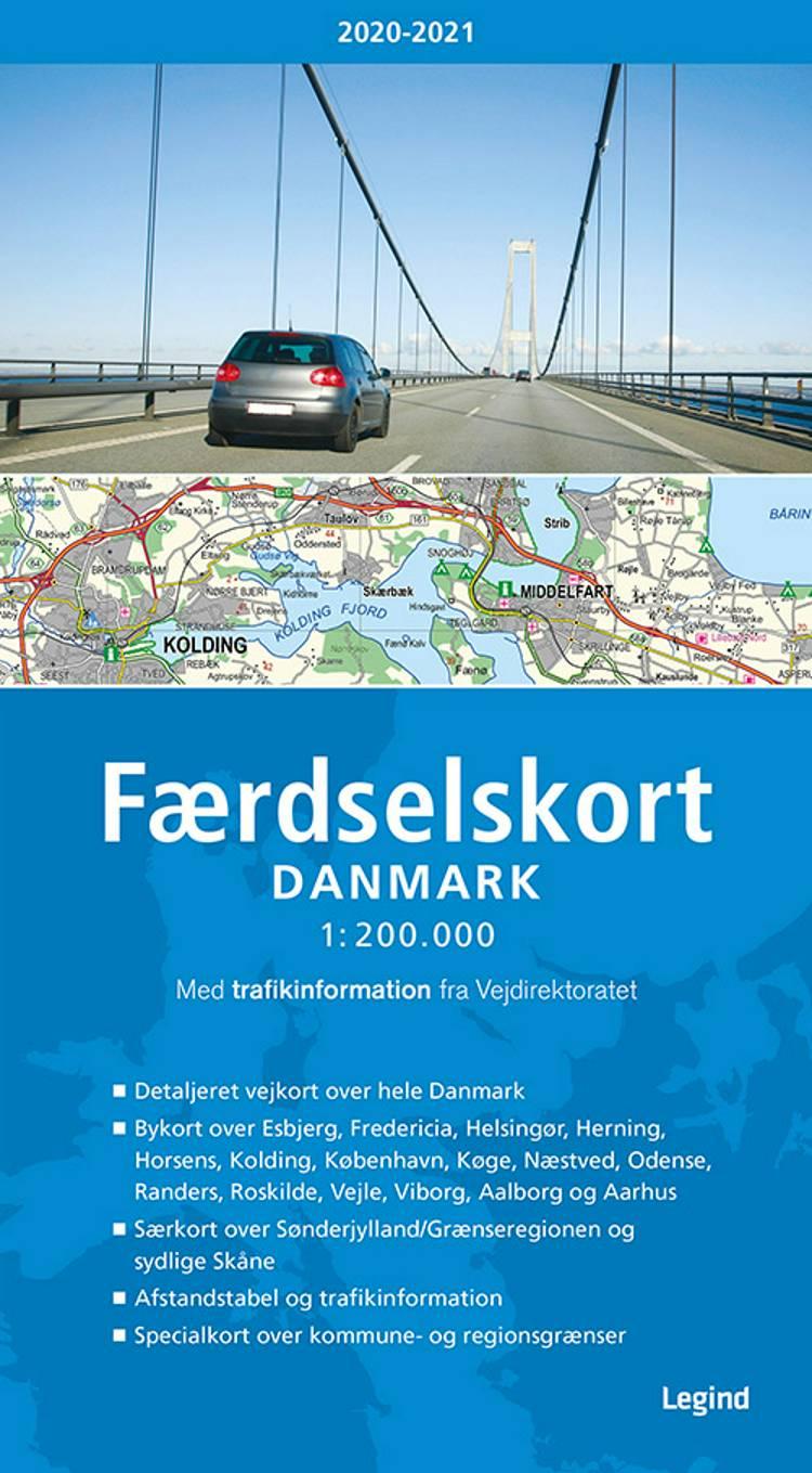 Færdselskort Danmark 2020-2021