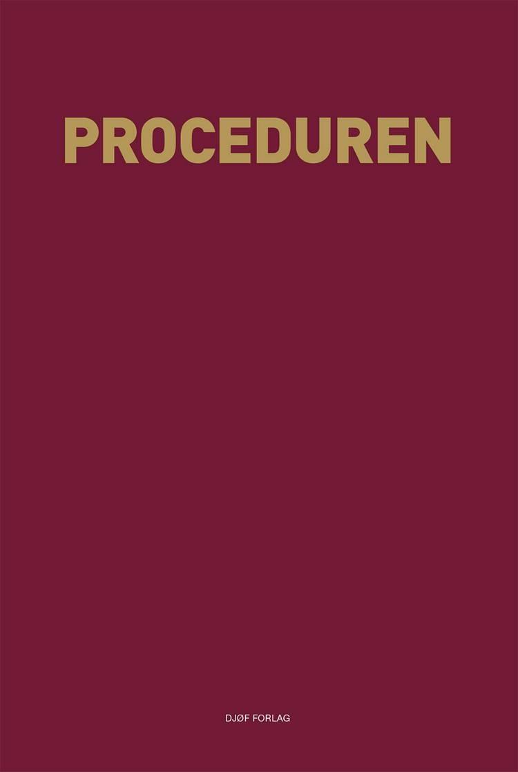 Proceduren af Redigeret af Pernille Backhausen og Håkun Djurhuus og Christian Lundblad