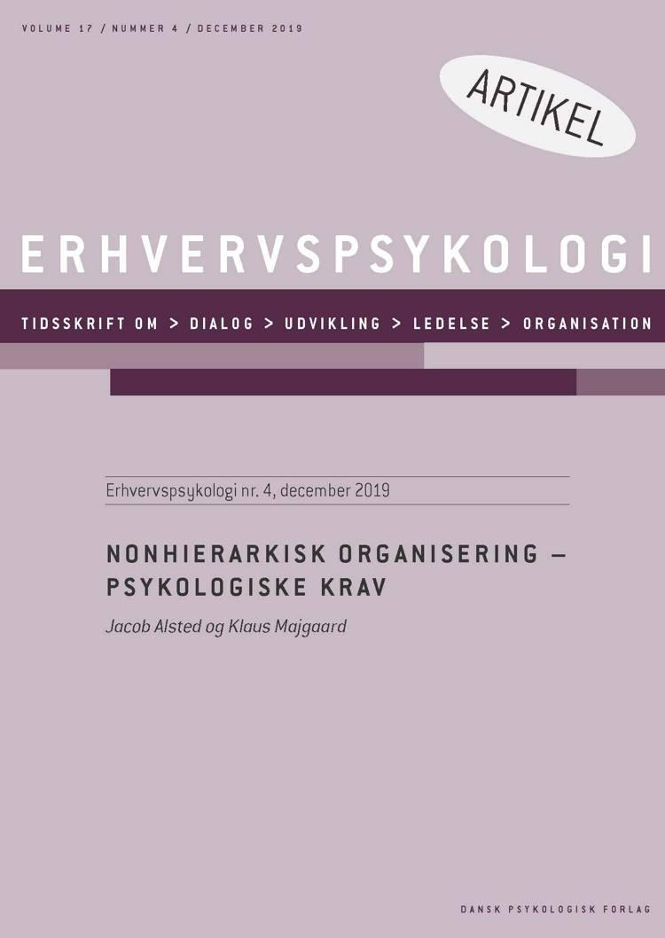 Nonhierarkisk organisering - Psykologiske krav af Jacob Alsted og Klaus Majgaard
