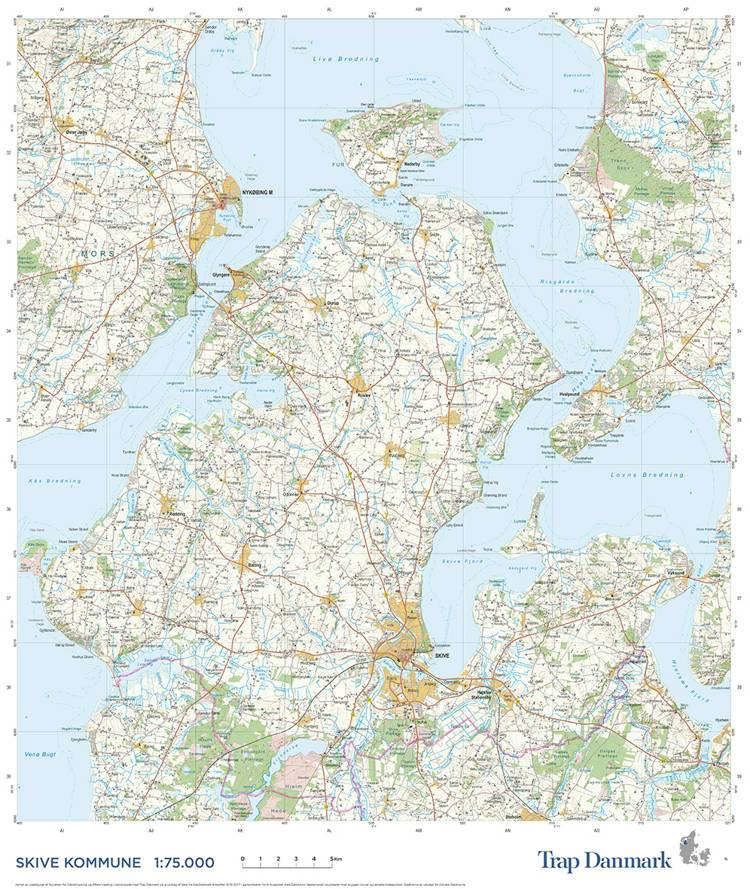 Trap Danmark: Kort over Skive Kommune af Trap Danmark
