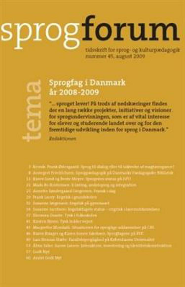 Sprogfag i Danmark af Bente Meyer, Annegret Friedrichsen og Karen Lund