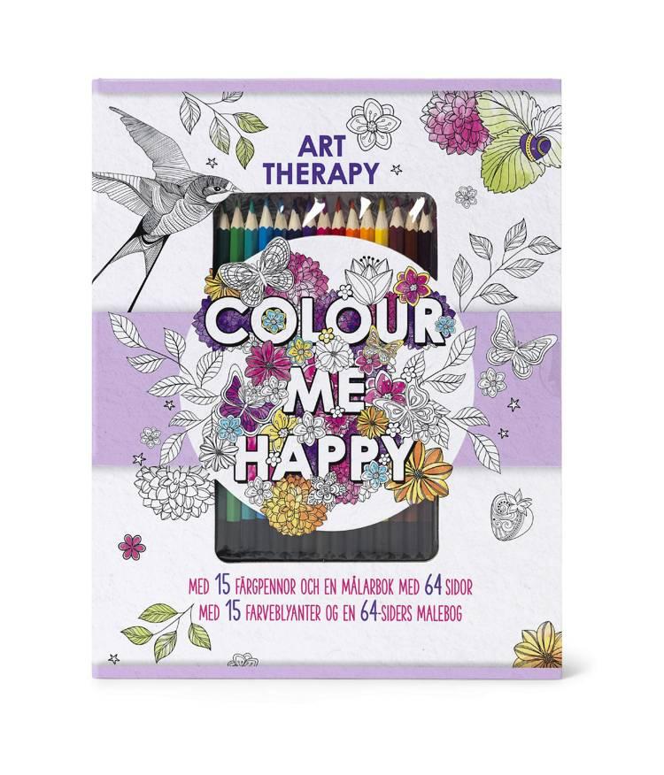 Colour me happy - malebog med farveblyanter