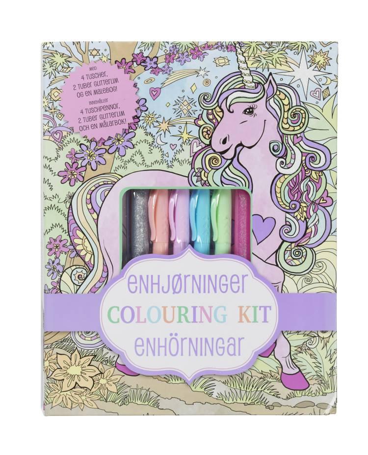 ENHJØRNINGER Colouring Kit