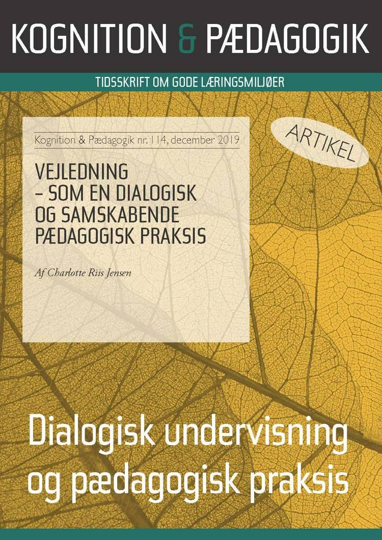 Vejledning - som en dialogisk og samskabende pædagogisk praksis af Charlotte Riis Jensen