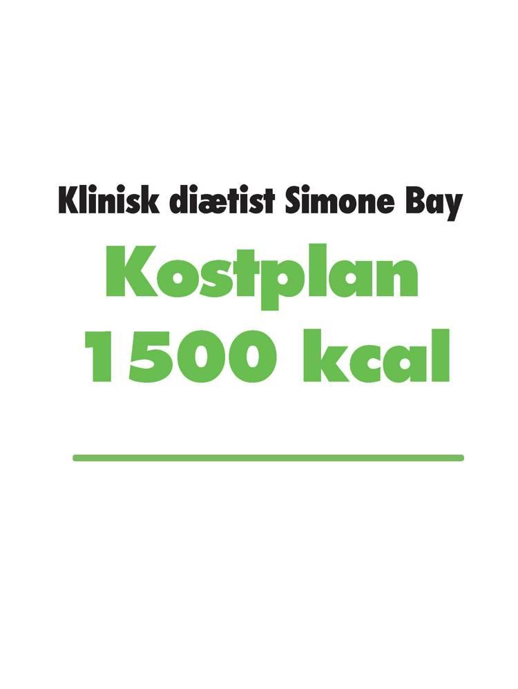 Kostplan 1500 kcal af Simone Bay