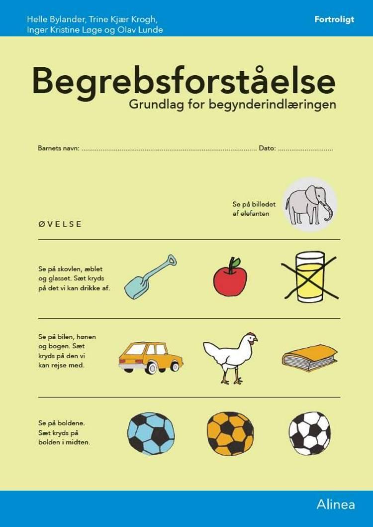 Begrebsforståelse, skema (10 stk) af Trine Kjær Krogh og Helle Bylander