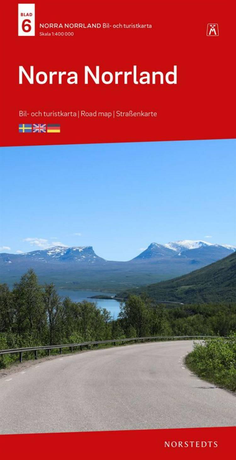 Norra Norrland : bil- och turistkarta - road map - Straßenkarte af Norstedts