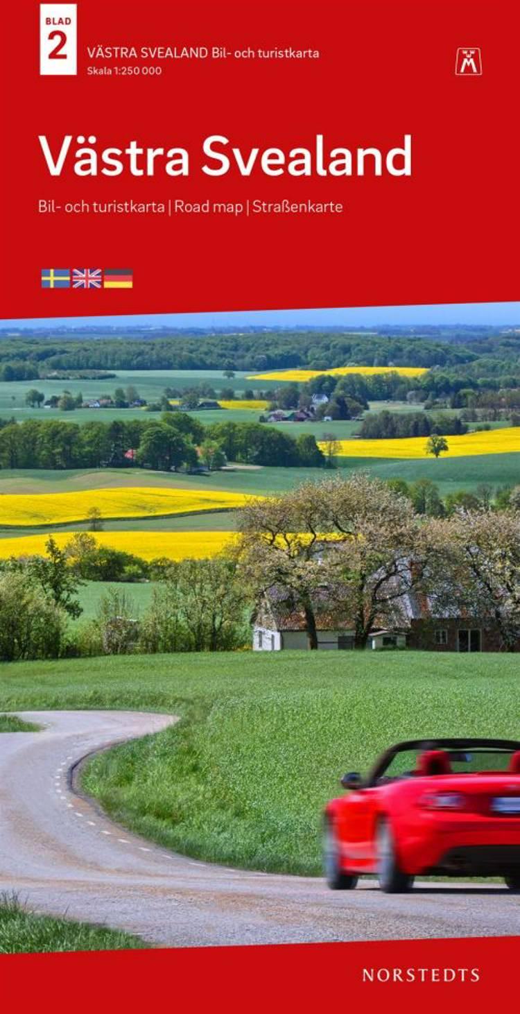 Västra Svealand : bil- och turistkarta - road map - Straßenkarte af Norstedts