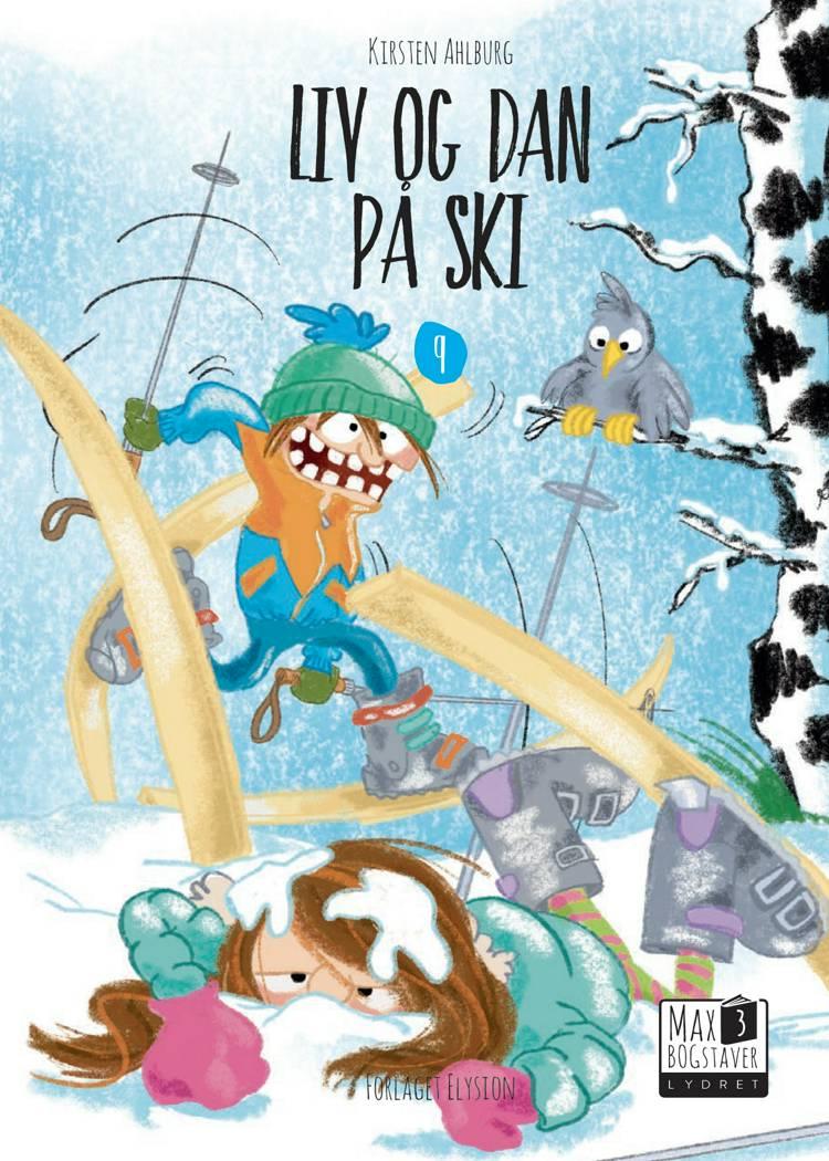Liv og Dan på ski af Kirsten Ahlburg
