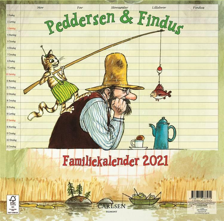 Peddersen & Findus - familiekalender 2021 af Sven Nordqvist
