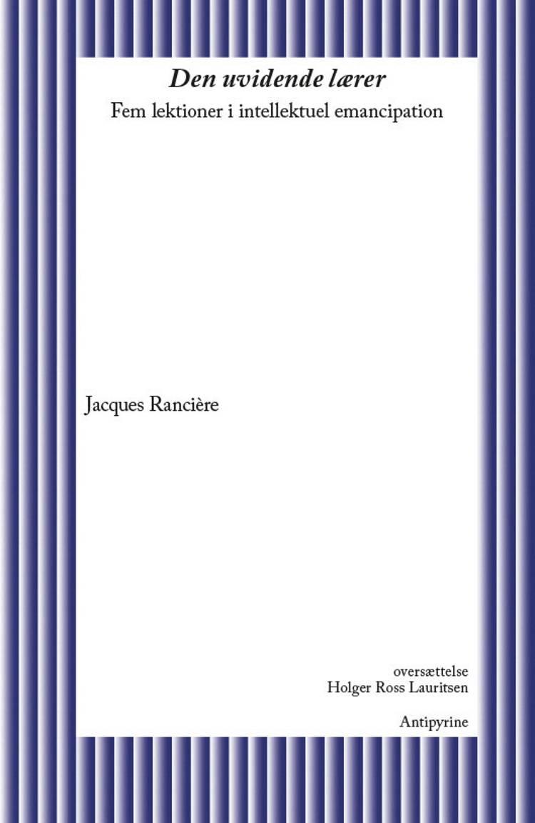 Den uvidende lærer af Jacques Rancière