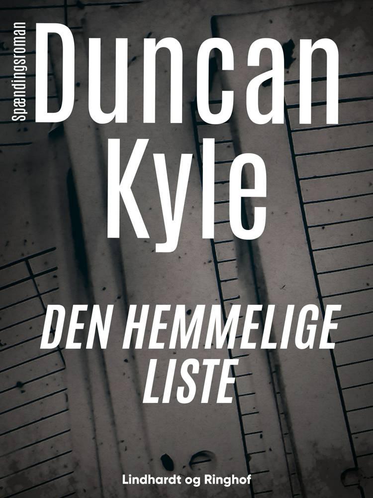 Den hemmelige liste af Duncan Kyle