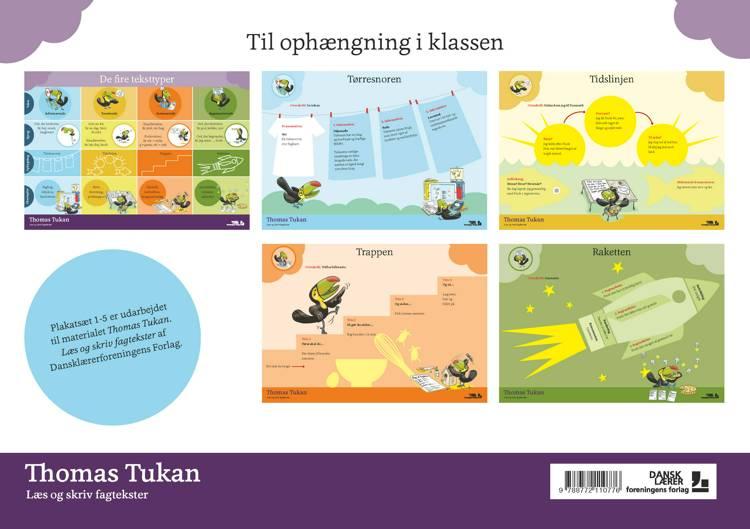 Thomas Tukan, Plakatsæt (5 stk.) af Joy Lieberkind
