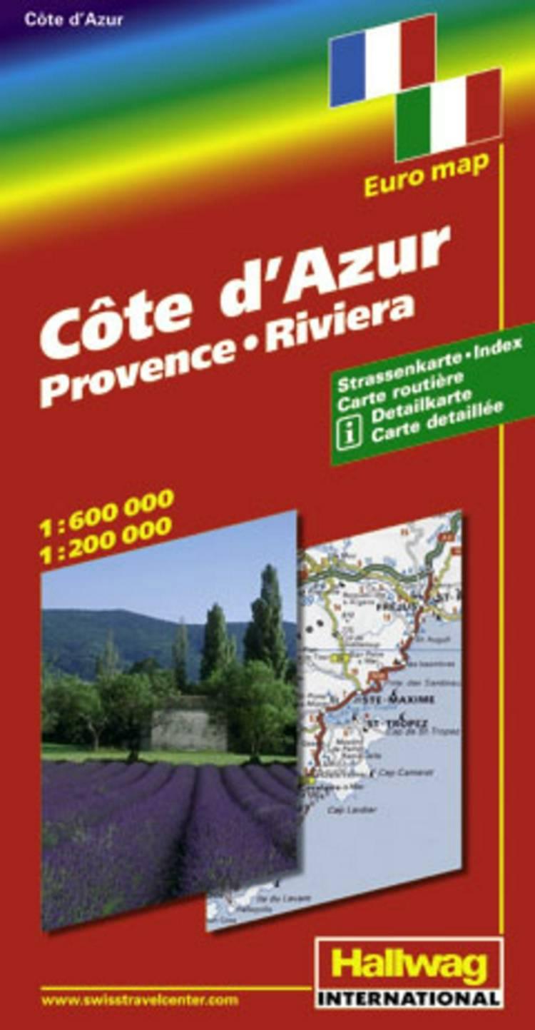 Hallwag, vejkort, Frankrig Syd