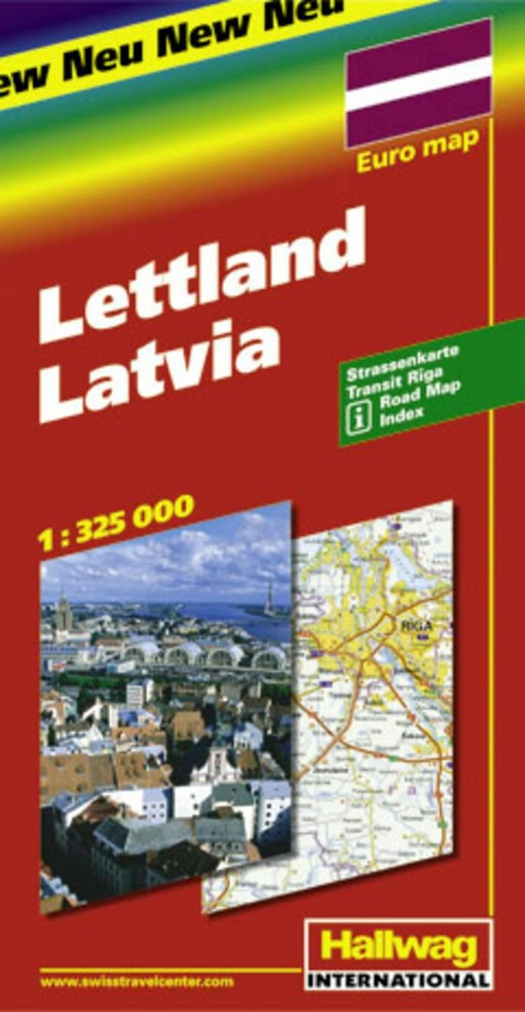 Hallwag, vejkort, Letland