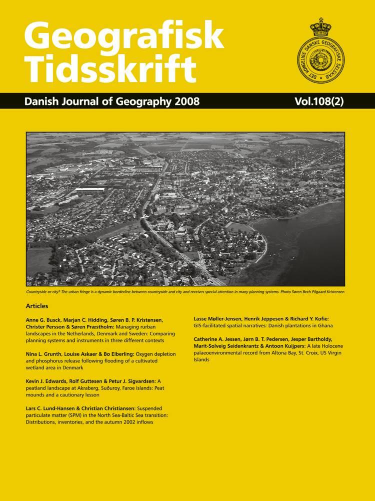 Geografisk Tidsskrift vol. 108 (2) af Redaktør Anette Reenberg