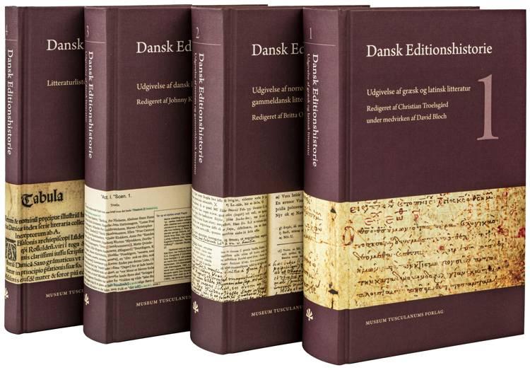 Dansk Editionshistorie, bd. 1-4 af Red. af Johnny Kondrup og Britta Olrik Frederiksen og Christian Troelsgård under medvirken af David Bloch