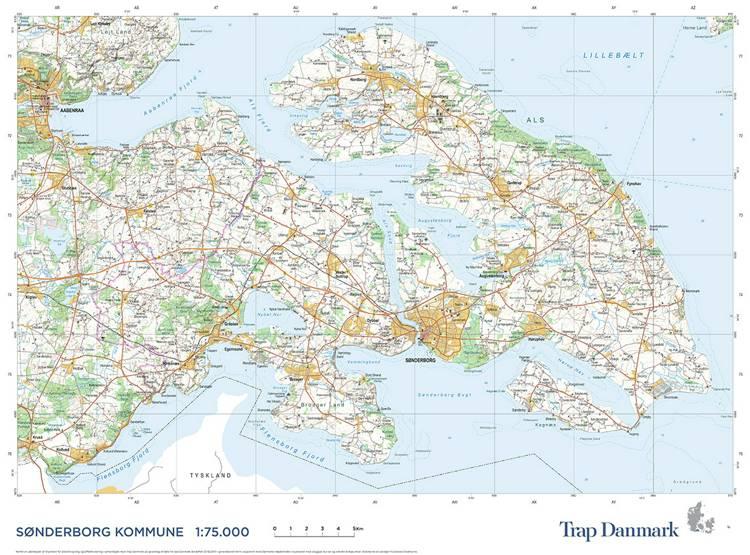 Trap Danmark: Kort over Sønderborg Kommune af Trap Danmark