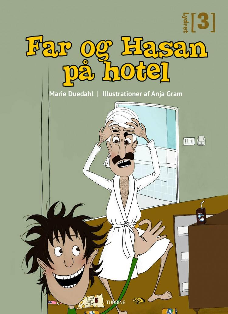 Far og Hasan på hotel af Marie Duedahl