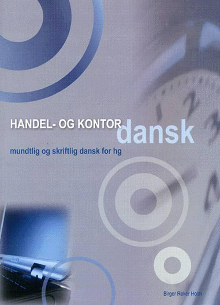 Handel- og kontordansk af Birger Reker Holm