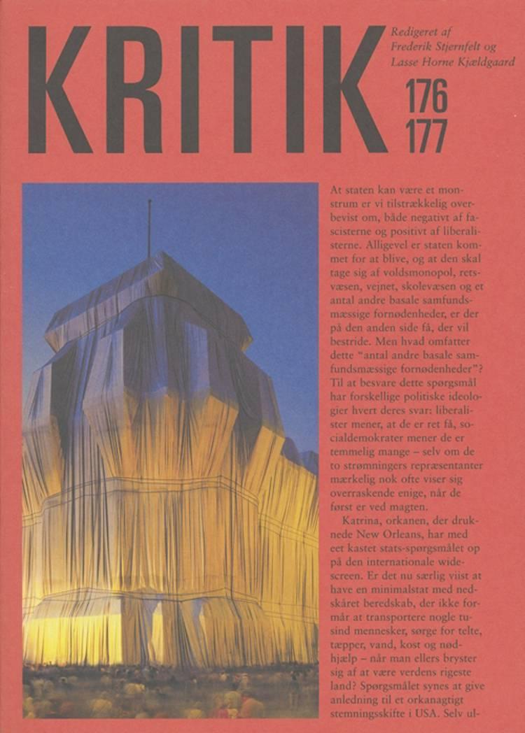 KRITIK, 38. årgang, nr. 176-177 af Lasse Horne Kjældgaard og Frederik Stjernfelt