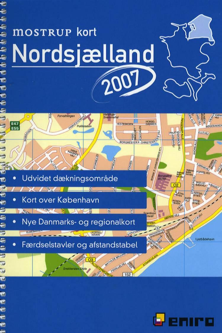 Mostrup kort Nordsjælland