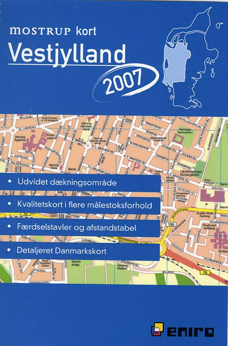Mostrup kort Vestjylland