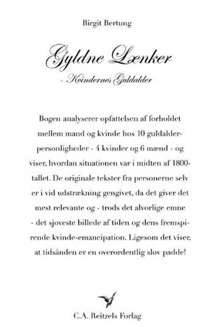 Gyldne lænker - kvindernes guldalder af Birgit Bertung
