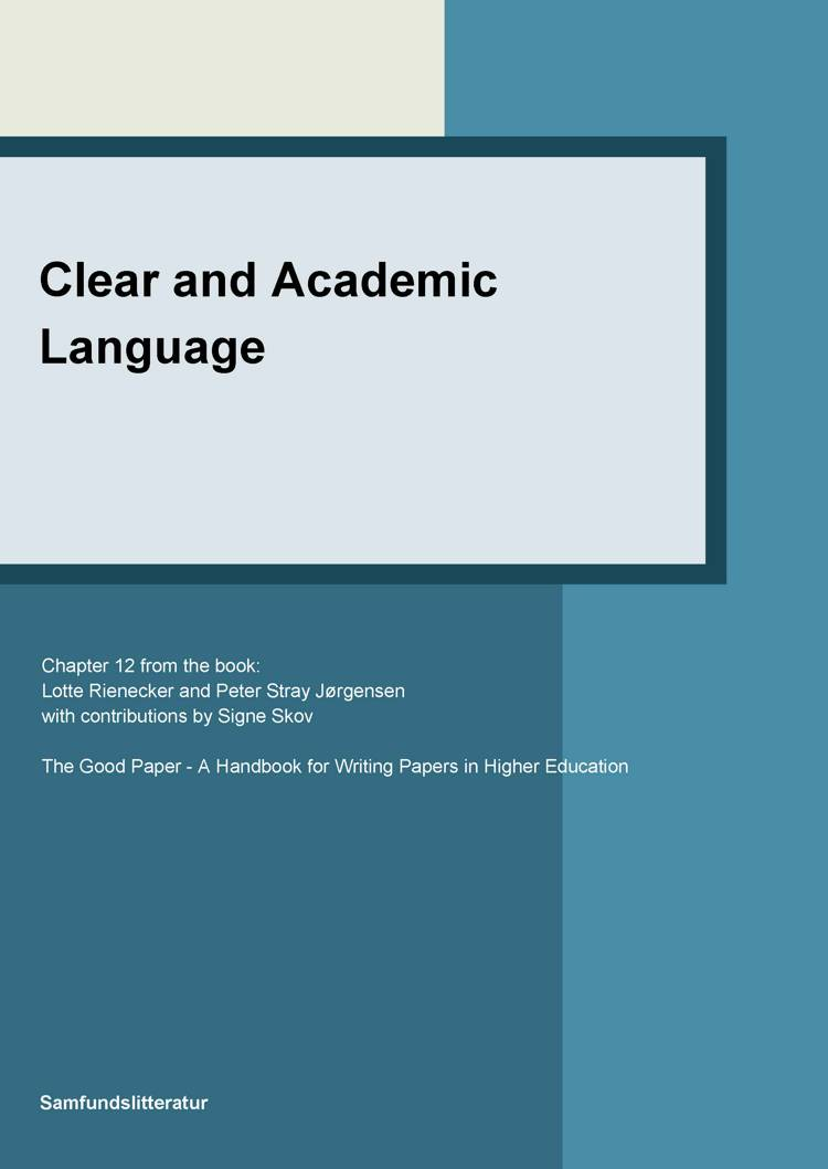 Clear and academic language af Signe Skov, Lotte Rienecker og Peter Stray Jørgensen