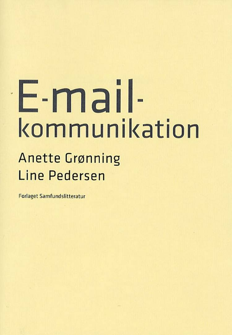 E-mail-kommunikation af Anette Grønning og Line Pedersen