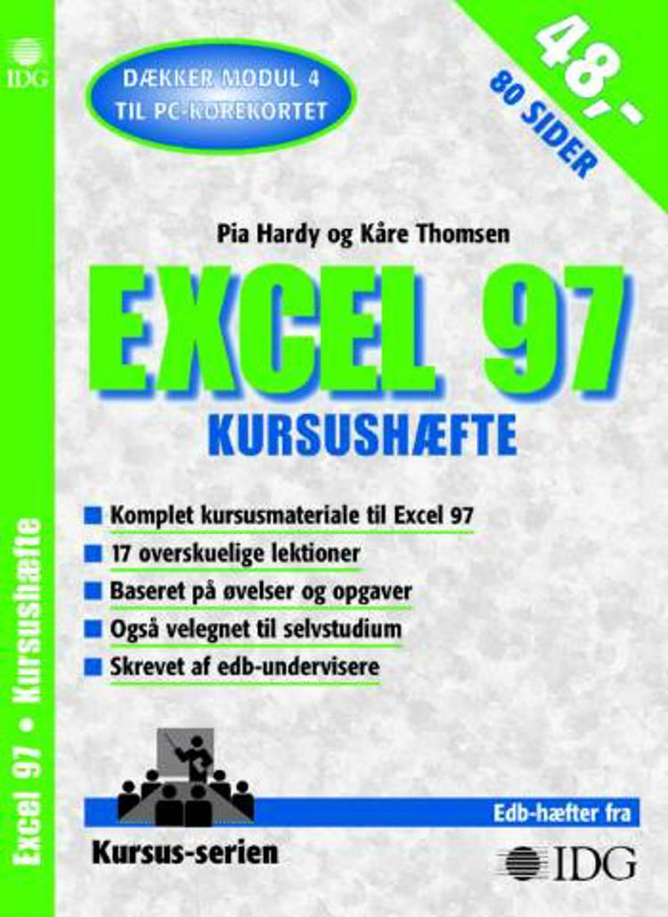 Excel 97 af Kåre Thomsen og Pia Hardy