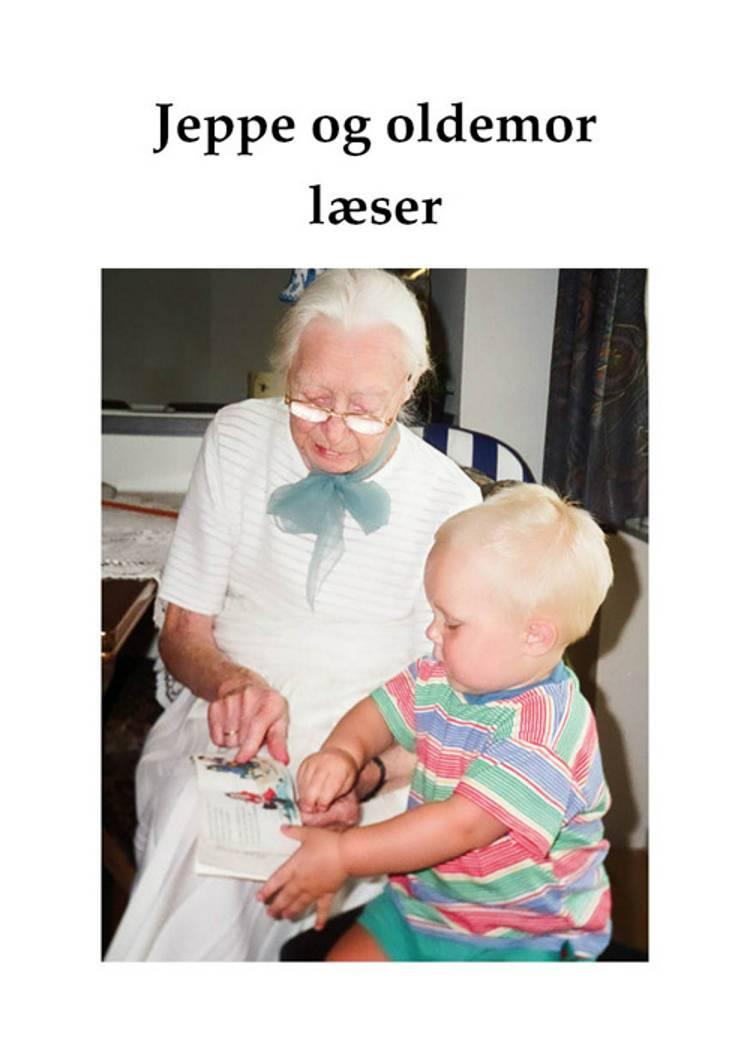 Jeppe og oldemor læser af Birte Overlade