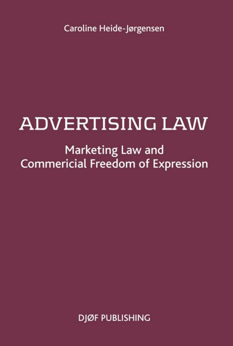 Advertising Law af Caroline Heide-Jørgensen og Caroline Heide Jørgensen