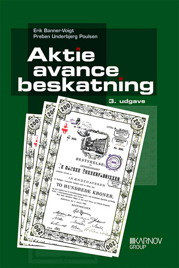 Aktieavancebeskatning af Søren Rasmussen, Preben Underbjerg Poulsen og Erik Banner-Voigt
