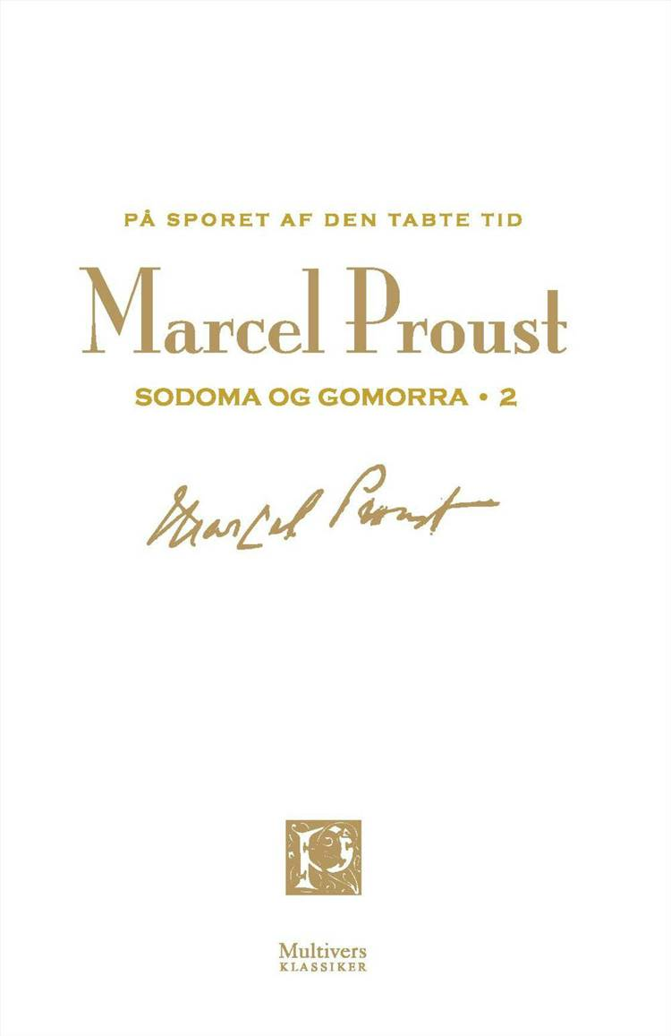På sporet af den tabte tid; Sodoma og Gomorra 2 af Marcel Proust