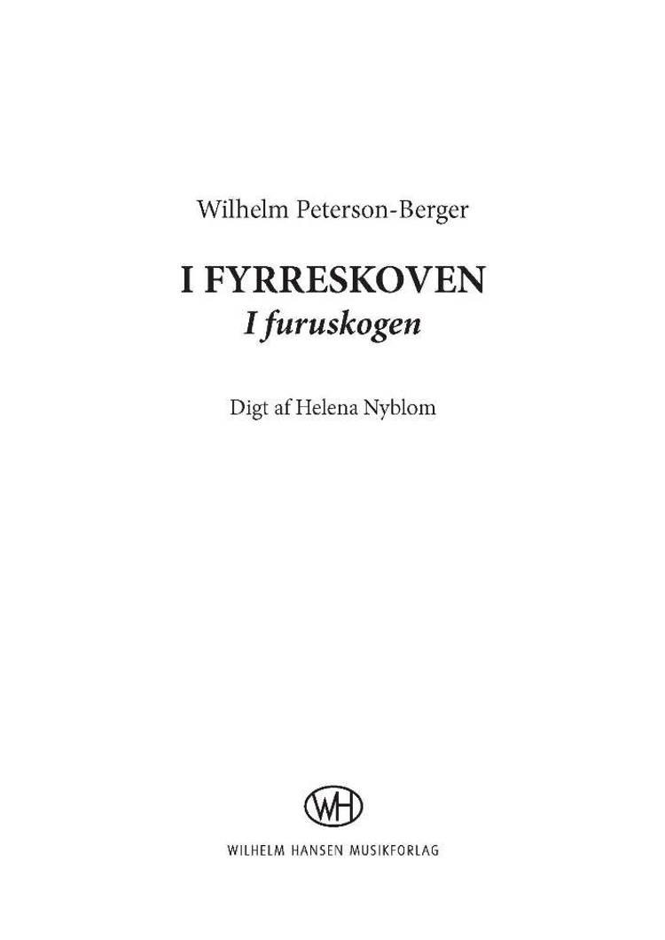 I fyrreskoven (I furuskogen) af Wilhelm Peterson-Berger