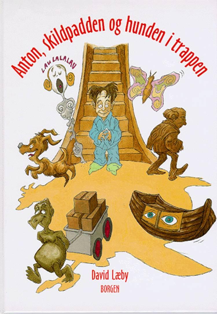 Anton, skildpadden og hunden i trappen af David Læby
