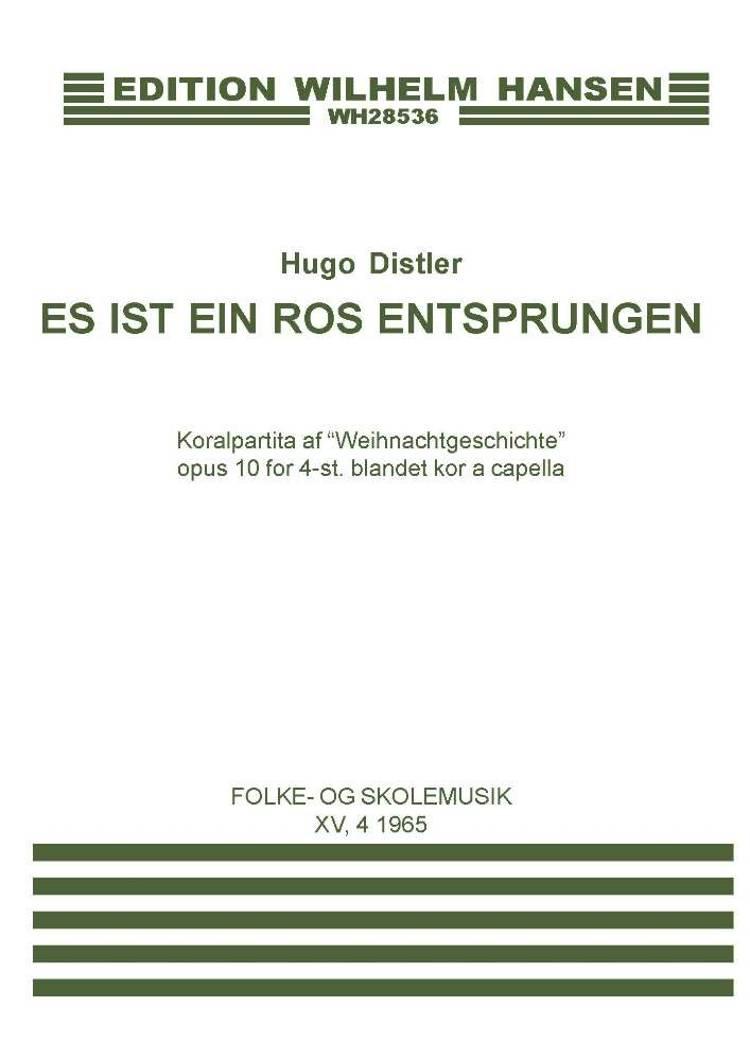 Es ist ein Ros enstprungen af Hugo Distler