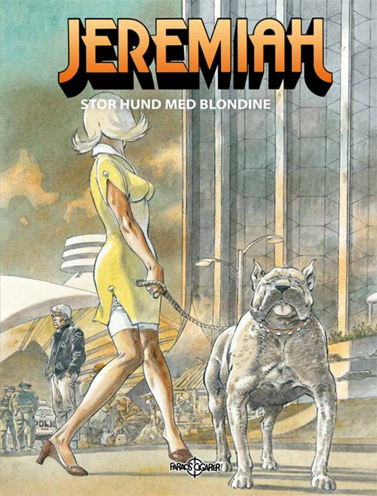 Stor hund med blondine af Hermann