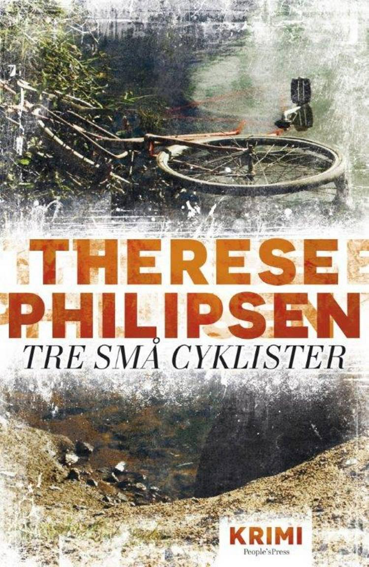 Tre små cyklister af Therese Philipsen